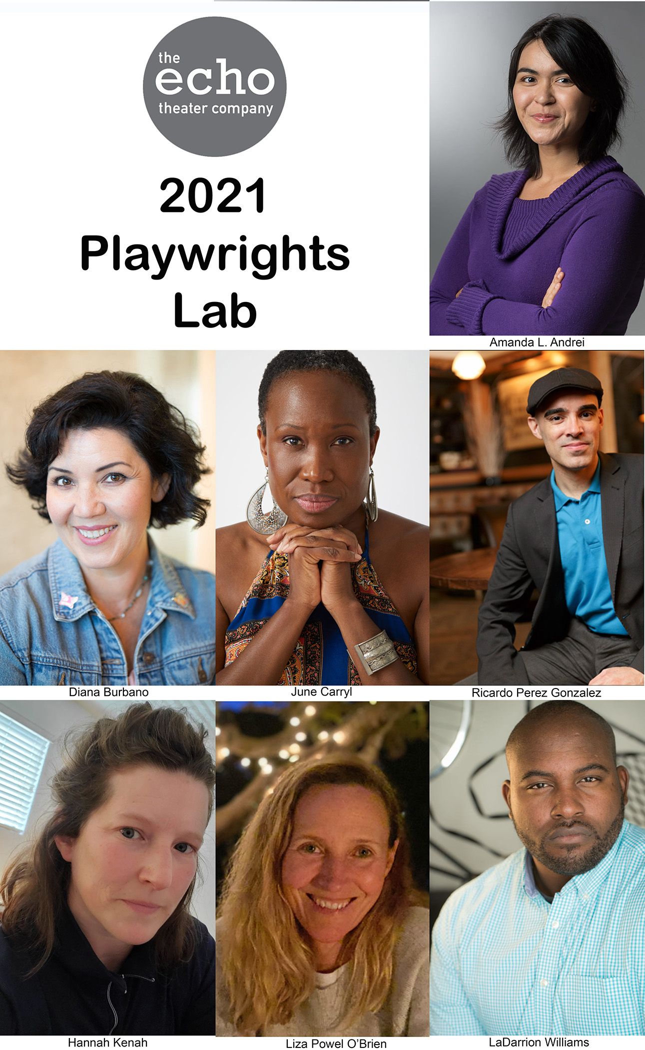 Seven Writers Selected For Echo Theater Company's 2021 Playwrights Lab